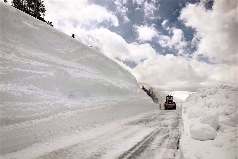 <p>It's still pretty snowy up on Independence Pass outside of Aspen, Colo., May 2019.</p>