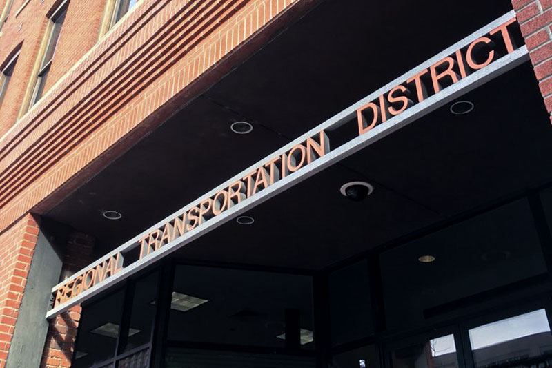 RTD's downtown headquarters at 1660 Blake Street in Denver.