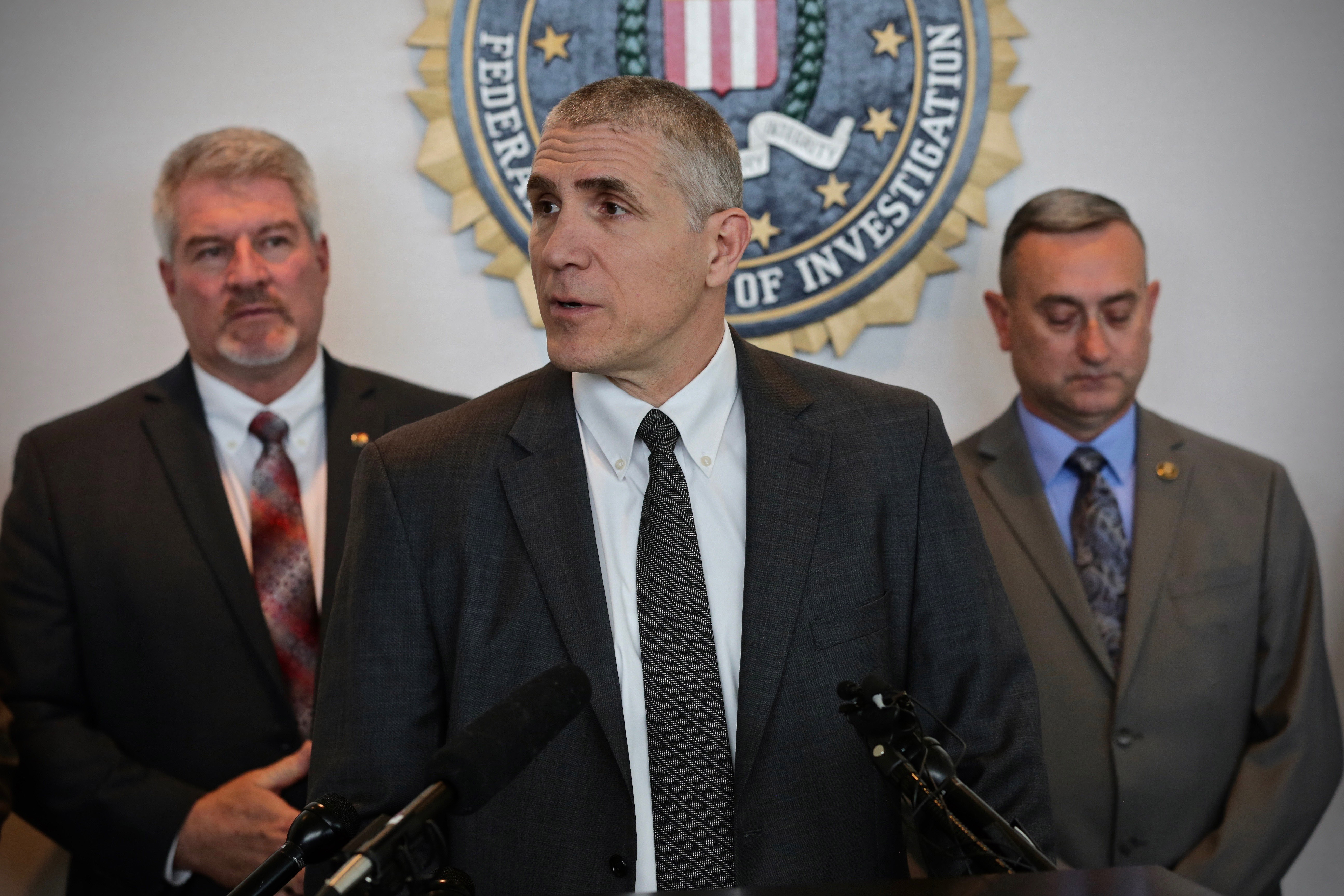 <p>FBI Special Agent in Charge Dean Phillips talks to reporters at the agency's Denver field office about the tips that put them on the trail of Sol Pais of Florida, and how authorities eventually found her body near Echo Lake below MountEvans, April 17, 2019.</p>