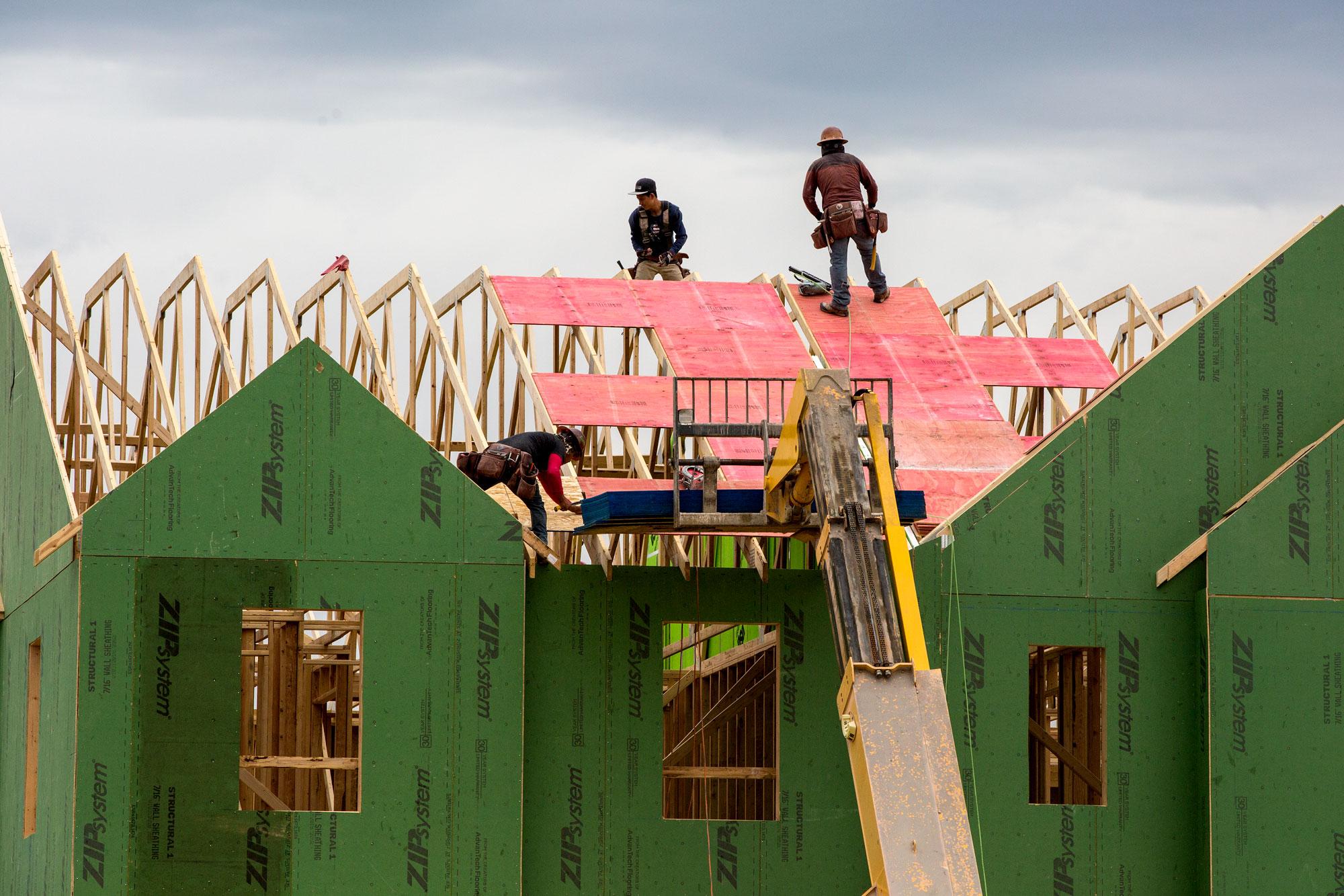 New home construction in Denver's Stapleton neighborhoodThursday, May 16, 2019.