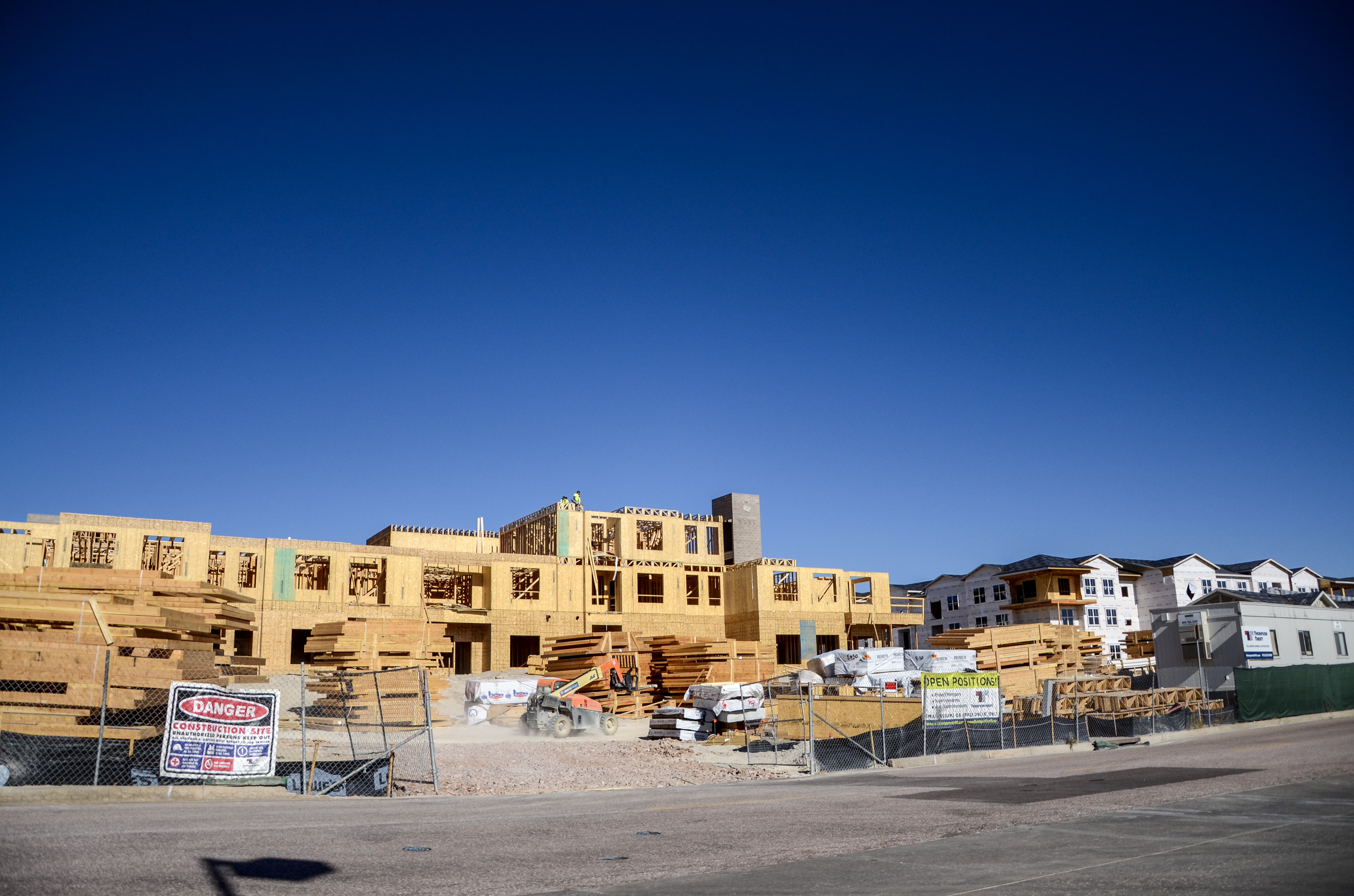 New apartments on the northeast side of Colorado Springs are under construction.