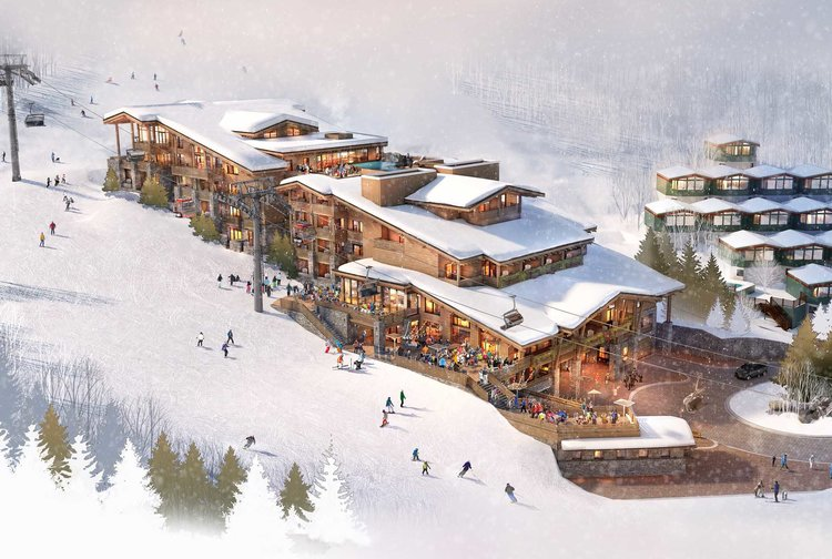 <p>Rendering of Aspen's proposed Lift 1 redevelopment.</p>