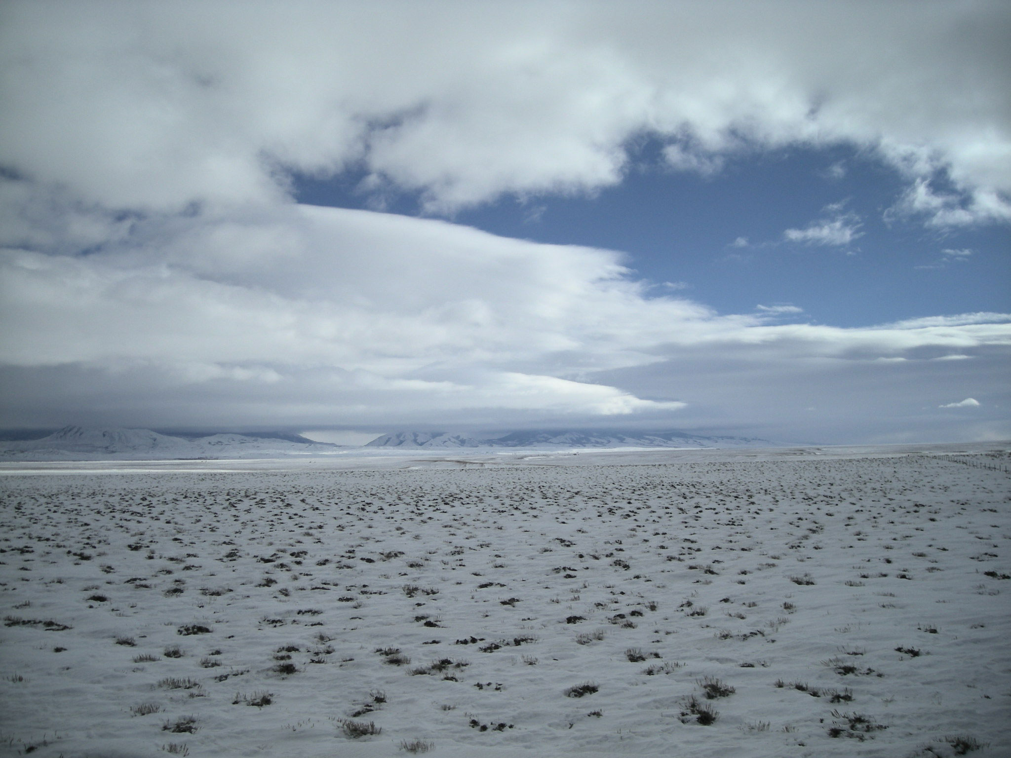 <p>Clouds over the Medicine Bow Range, Wyoming--one of the test sites for a landmark cloud seeding study.</p>