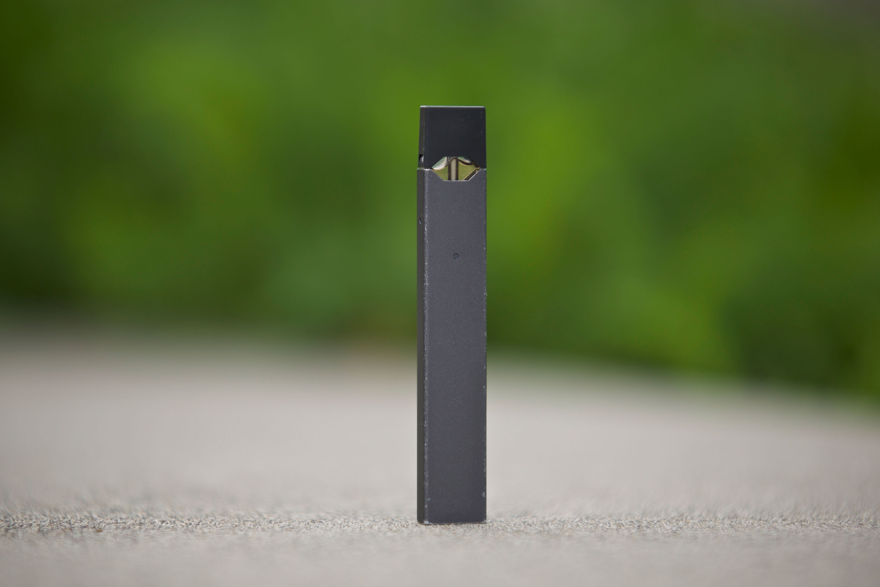 This April 16, 2019 photo shows a Juul vape pen.