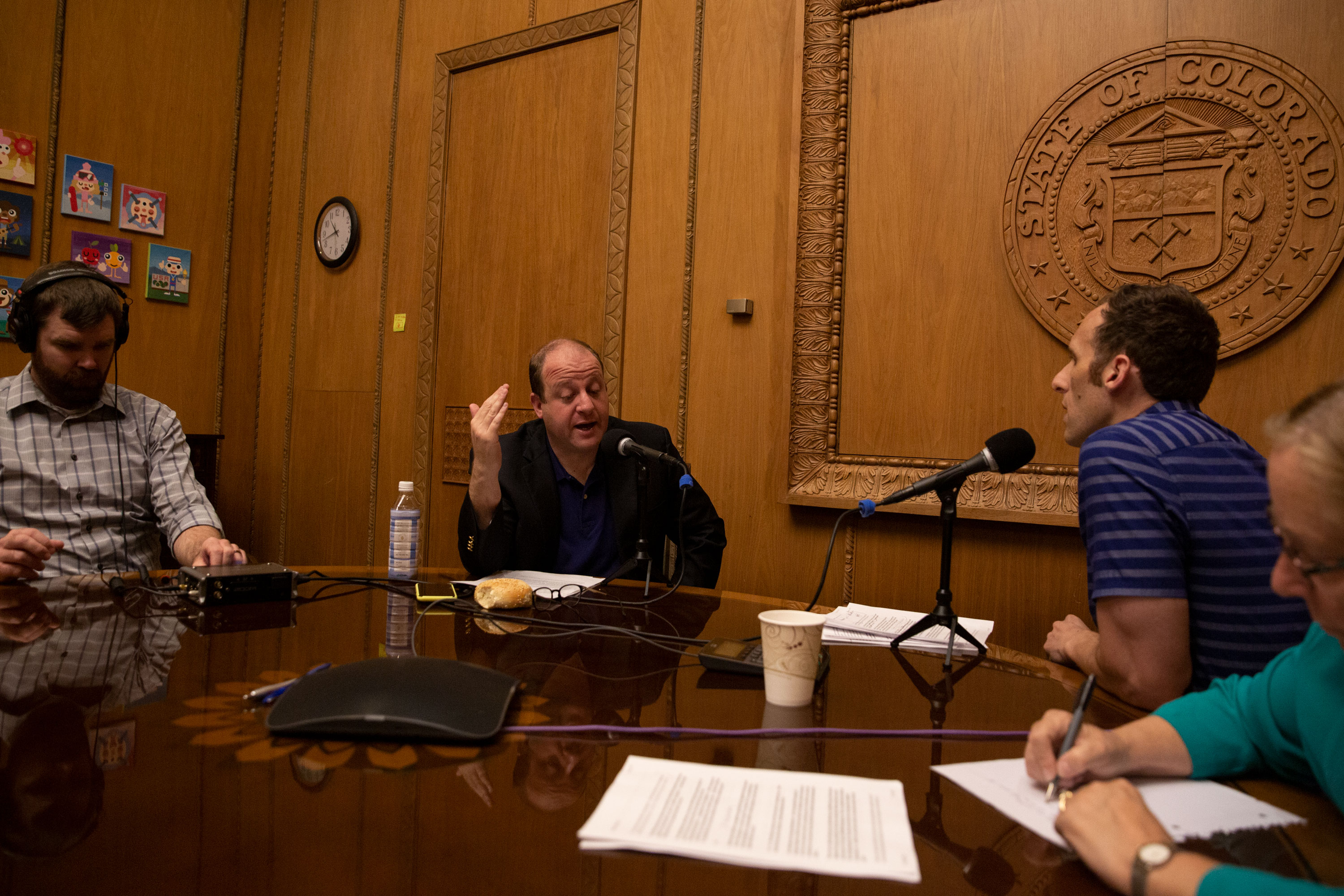Gov. Jared Polis in his office at the state Capitol on July 31, 2019.