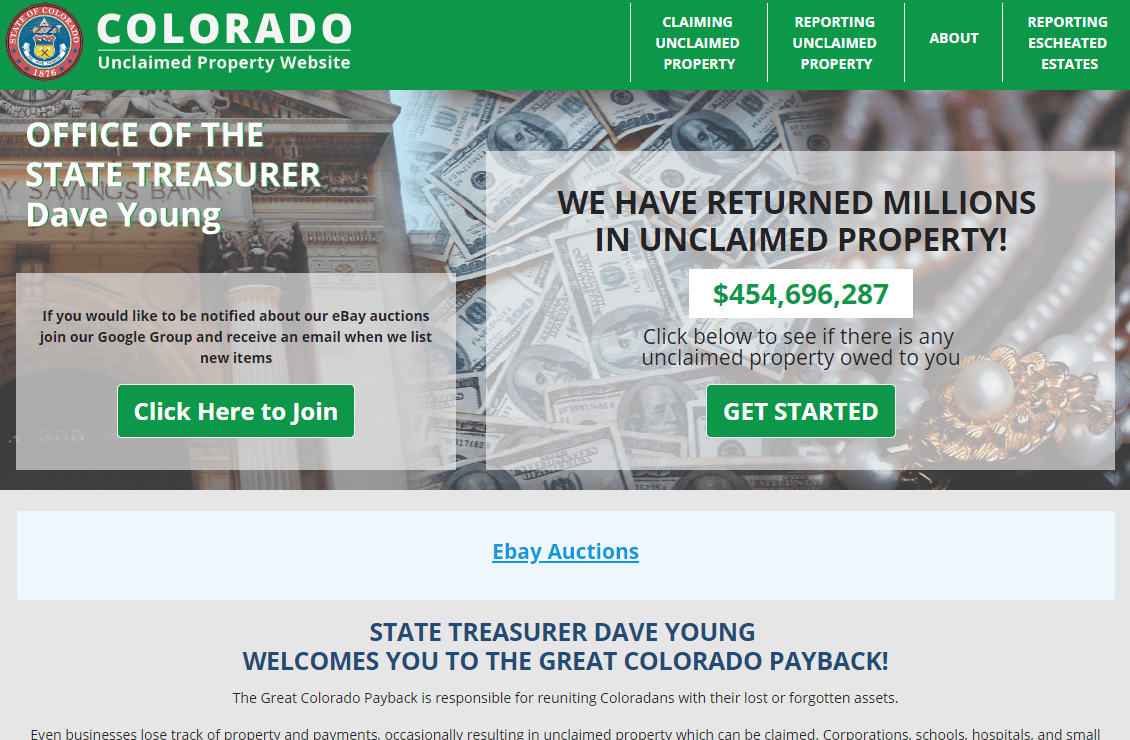 """The homepage of Colorado's Unclaimed Property Division touts the number of lost items its returned to owners, but a state audit found that the agency has """"alarming"""" problems."""