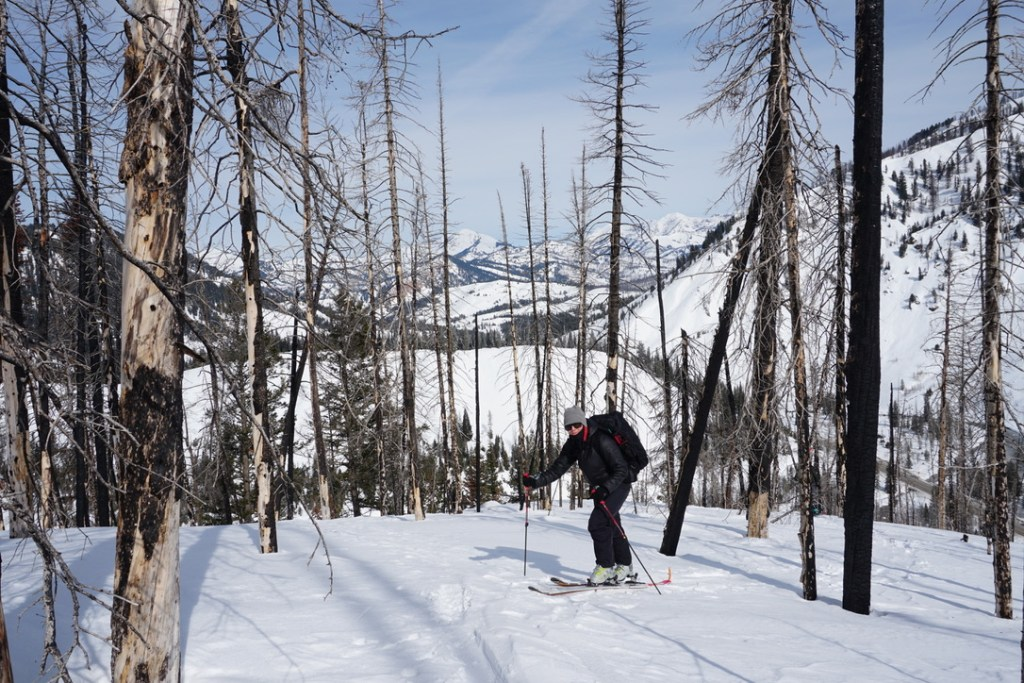 Kelly Gleason doing her fieldwork