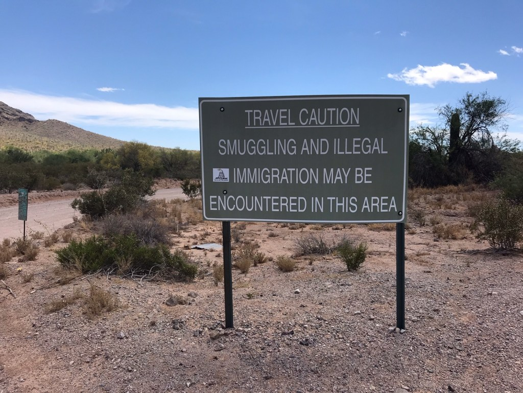 Sign in the Arizona desert