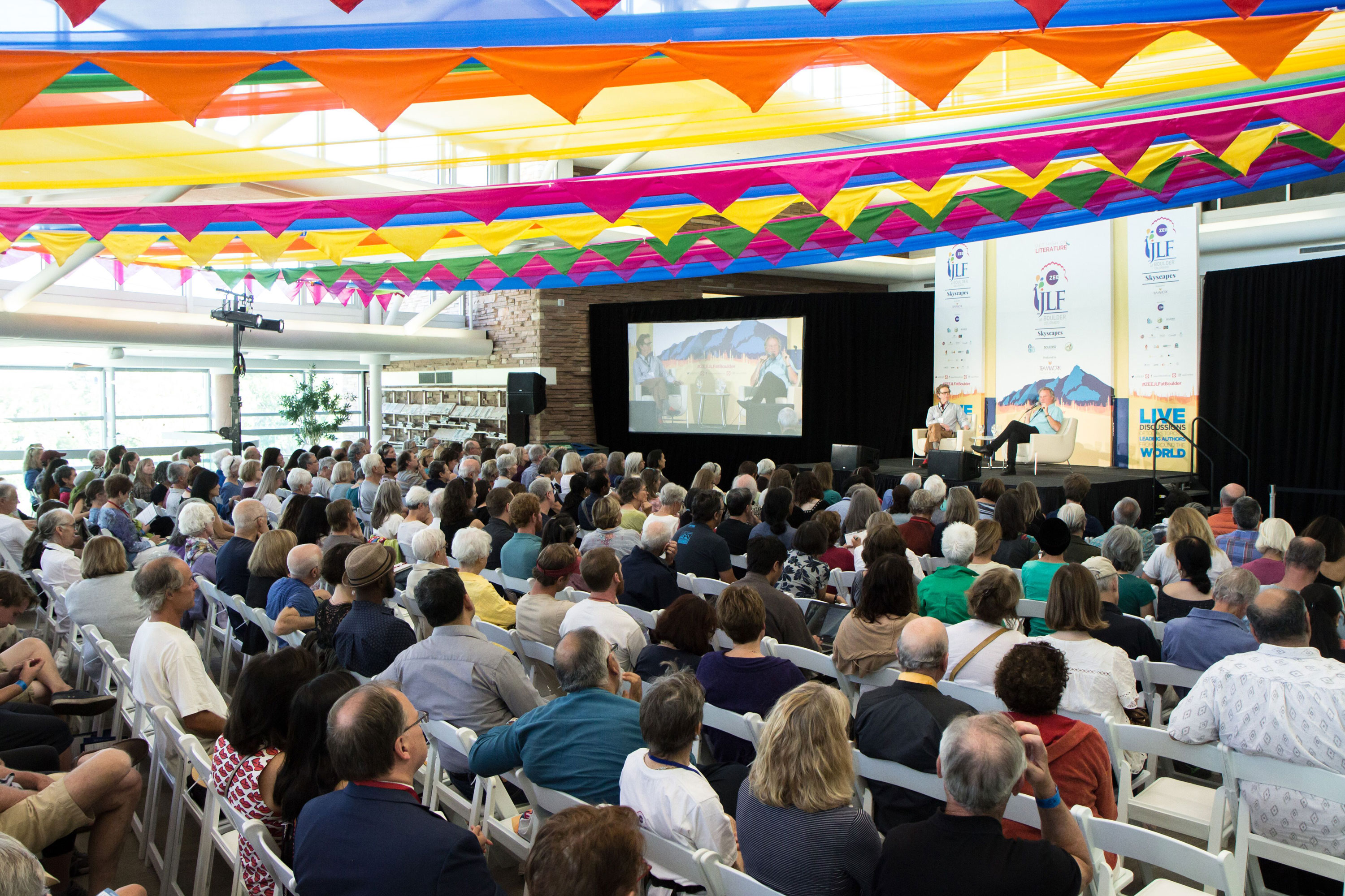 A scene from a previous year's ZEE Jaipur Literature Festival Colorado.