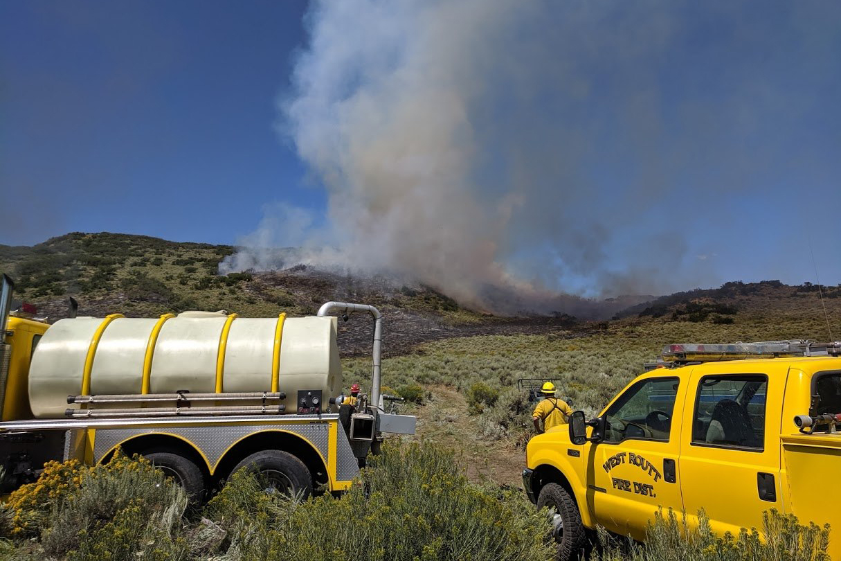 Officials fight the Indian Run Fire in Routt County.