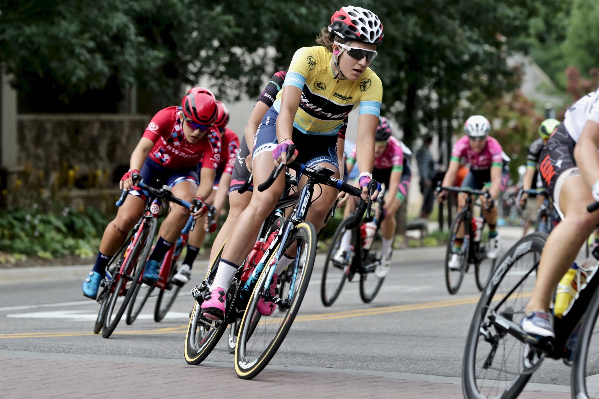 Defending the overall race leader's yellow jersey, American Chloe Dygert-Owen claimed four top spots Saturday Aug. 23 at the Colorado Classic bicycle race's second stage in Avon: the stage winner, overall race leader, sprint winner and queen of the mountain.