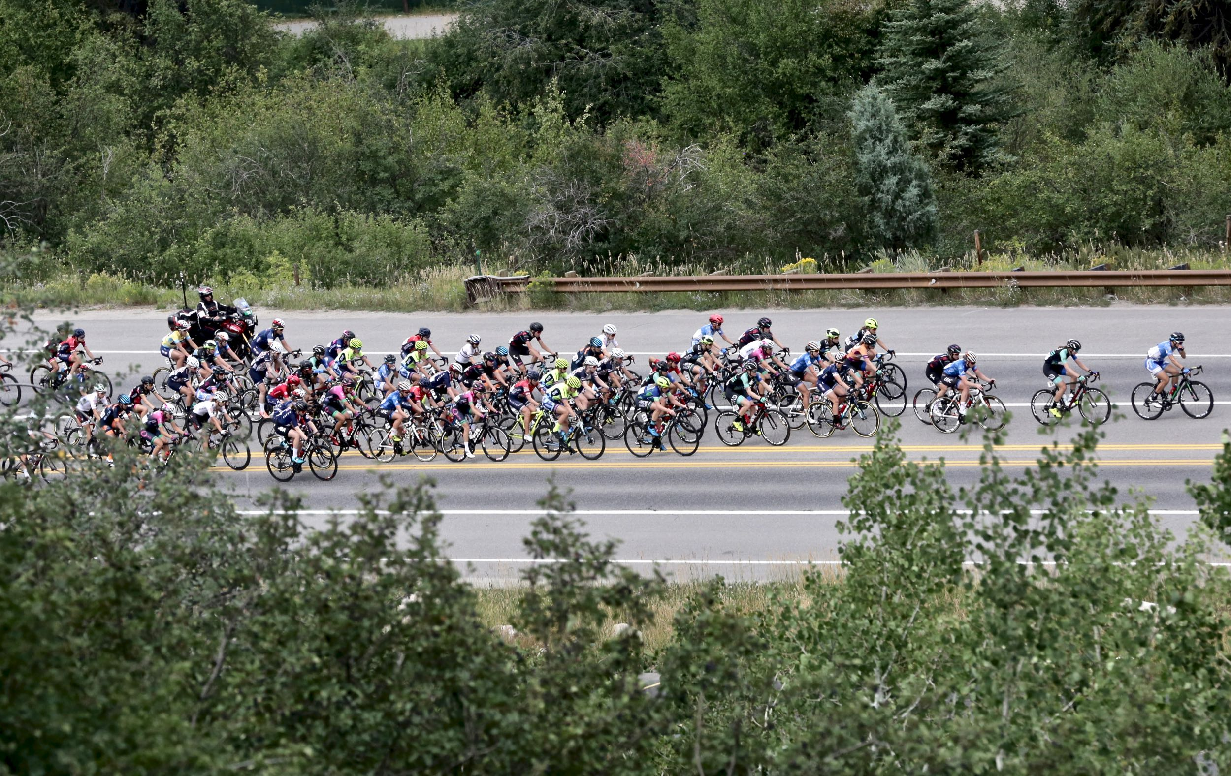 American Chloe Dygert-Owen claimed four top spots Saturday Aug. 23 at the Colorado Classic bicycle race's second stage in Avon: the stage winner, overall race leader, sprint winner and queen of the mountain.