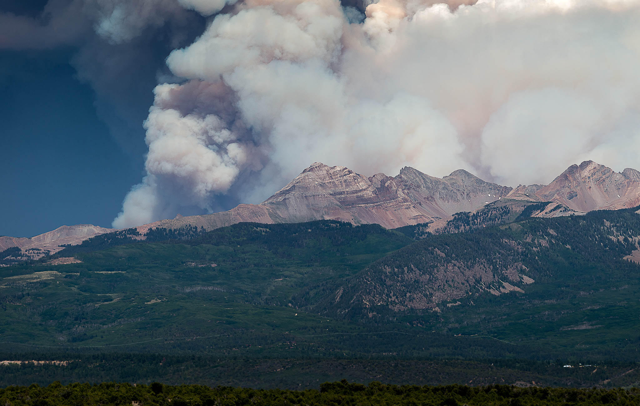 The 416 Fire burned about 54,000 acres in southwest Colorado in 2018. On Tuesday, the federal government filed a lawsuit accusing the Durango and Silverton Narrow Gauge Railroad Co. of starting the fire.