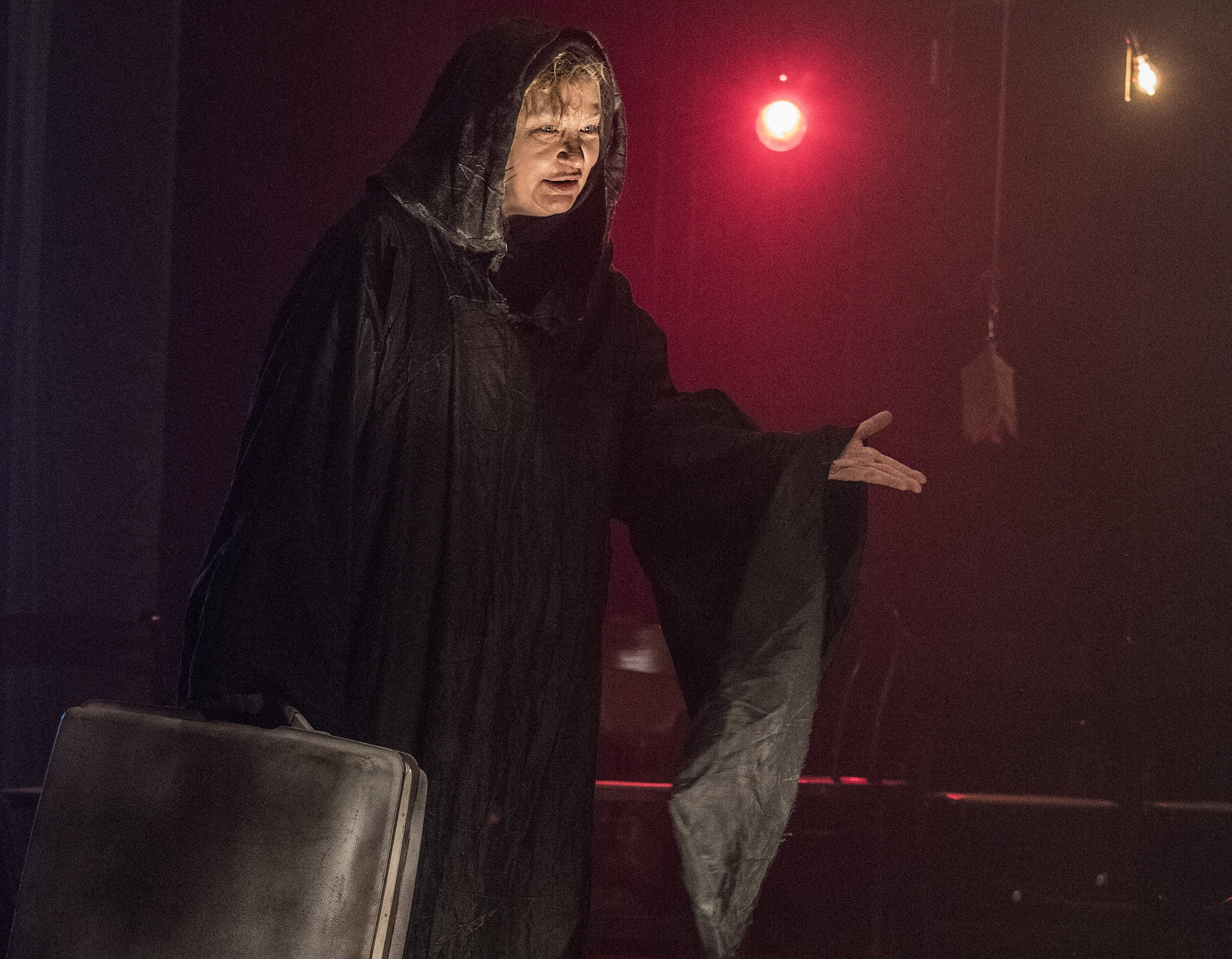 """Actor Edith Weiss in The Catamounts' production, """"Everybody"""" at The Dairy Arts Center in Boulder running through Oct. 12, 2019."""