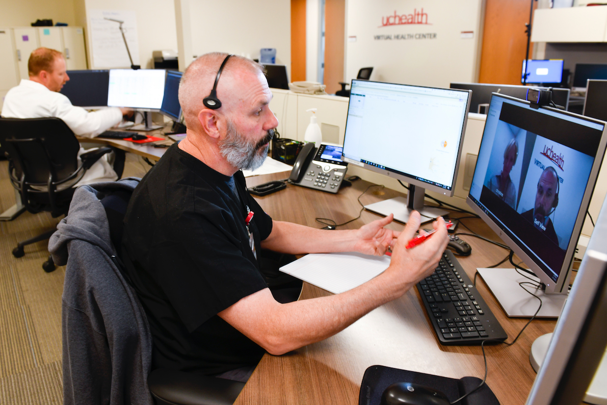 The UCHealth Virtual Health Center is part of the hospital system's $100 million investment in mental health.
