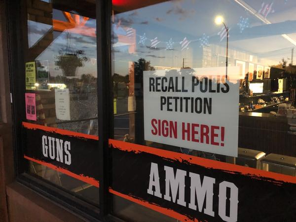 A gun store in Montrose was one of the places where people could sign a recall petition for Gov. Jared Polis. Polis was one of five Democrats to survive a recall effort this year.