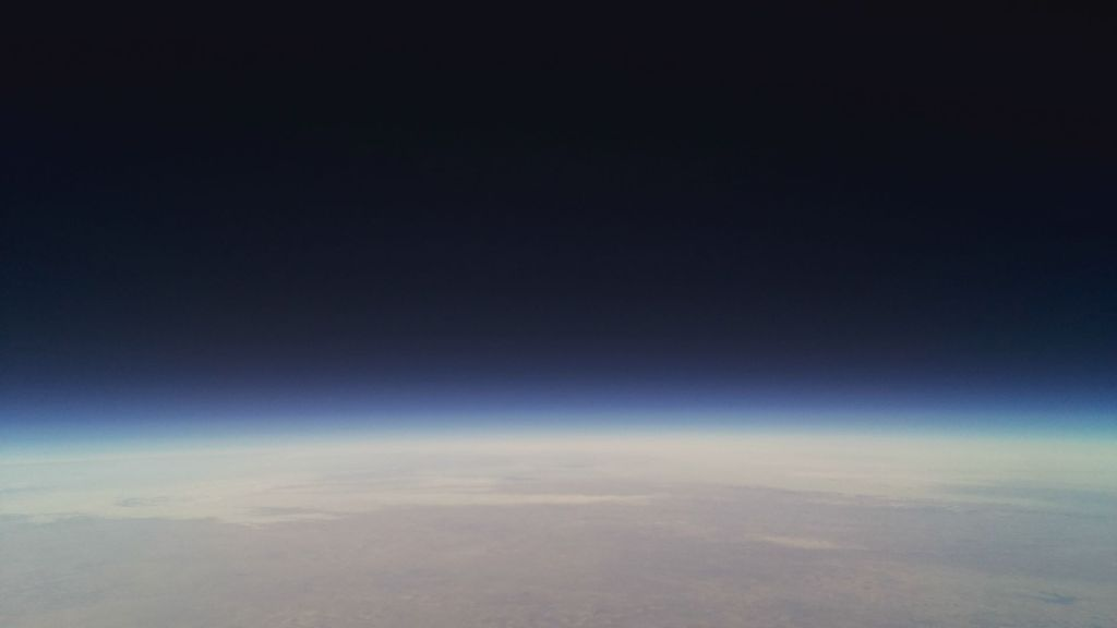 A photo taken from a PCC ballon satellite on a launch about a year ago.