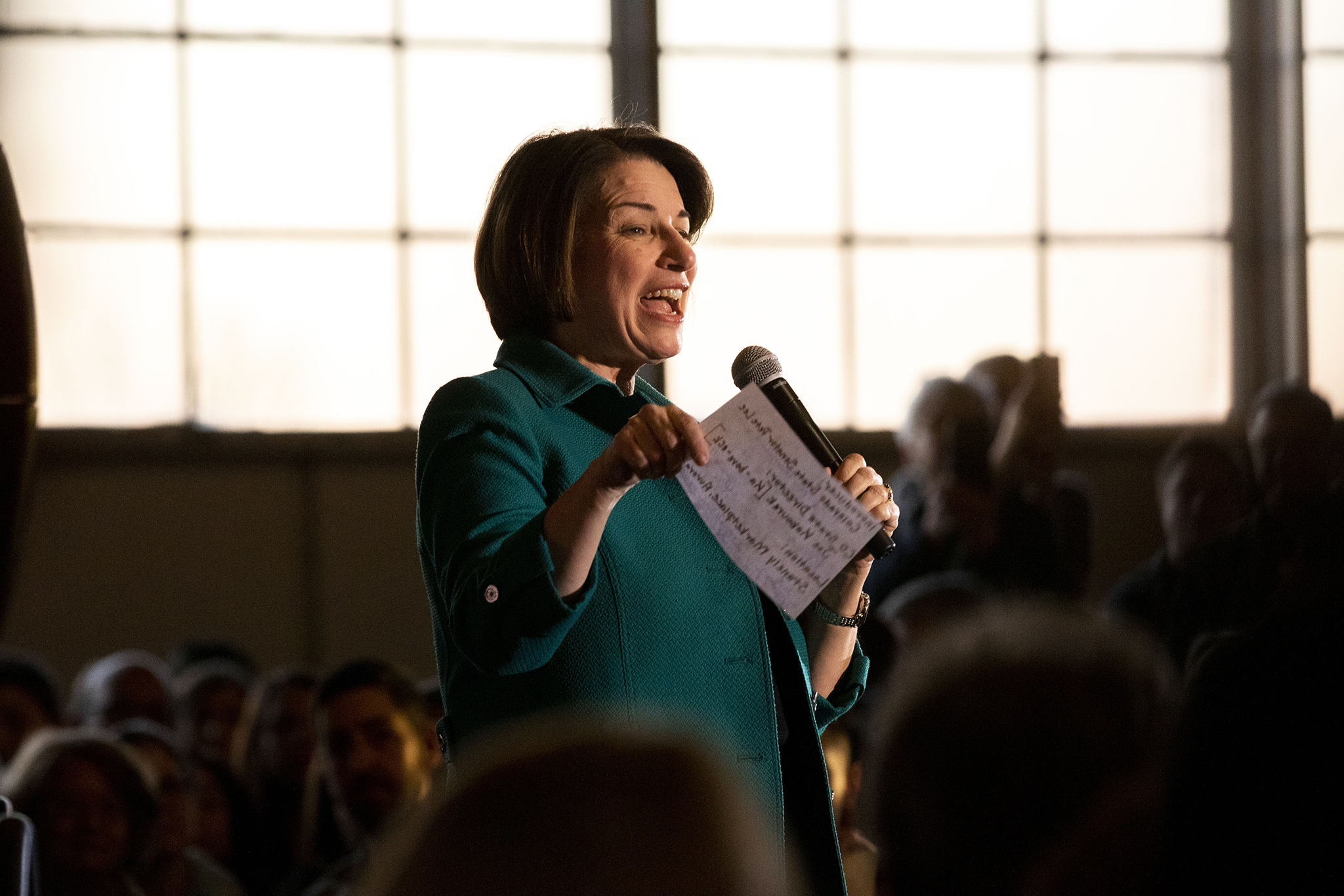 Amy Klobuchar holds a campaign rally at Aurora's Stanley Marketplace. Feb. 20, 2020.