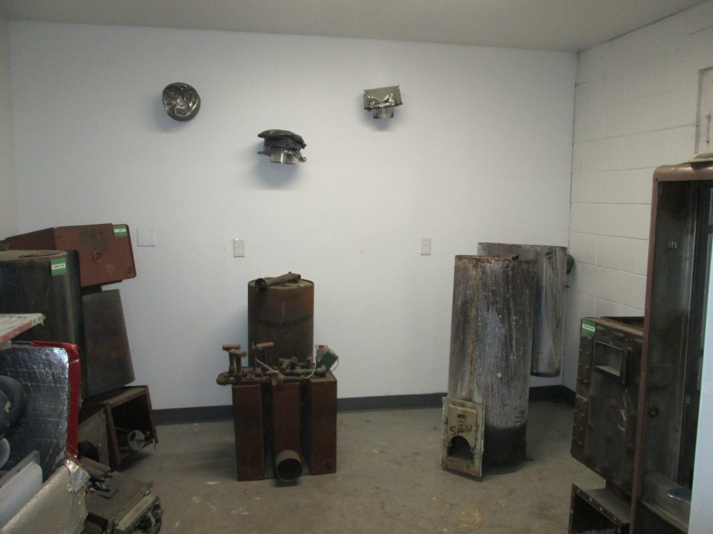 The room at E.R.C. where really old furnaces go. A possible future museum display?
