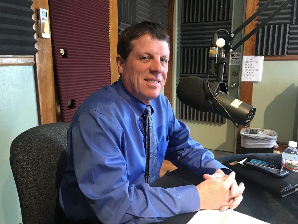 El Paso County Clerk and Recorder Chuck Broerman in the KRCC studio.