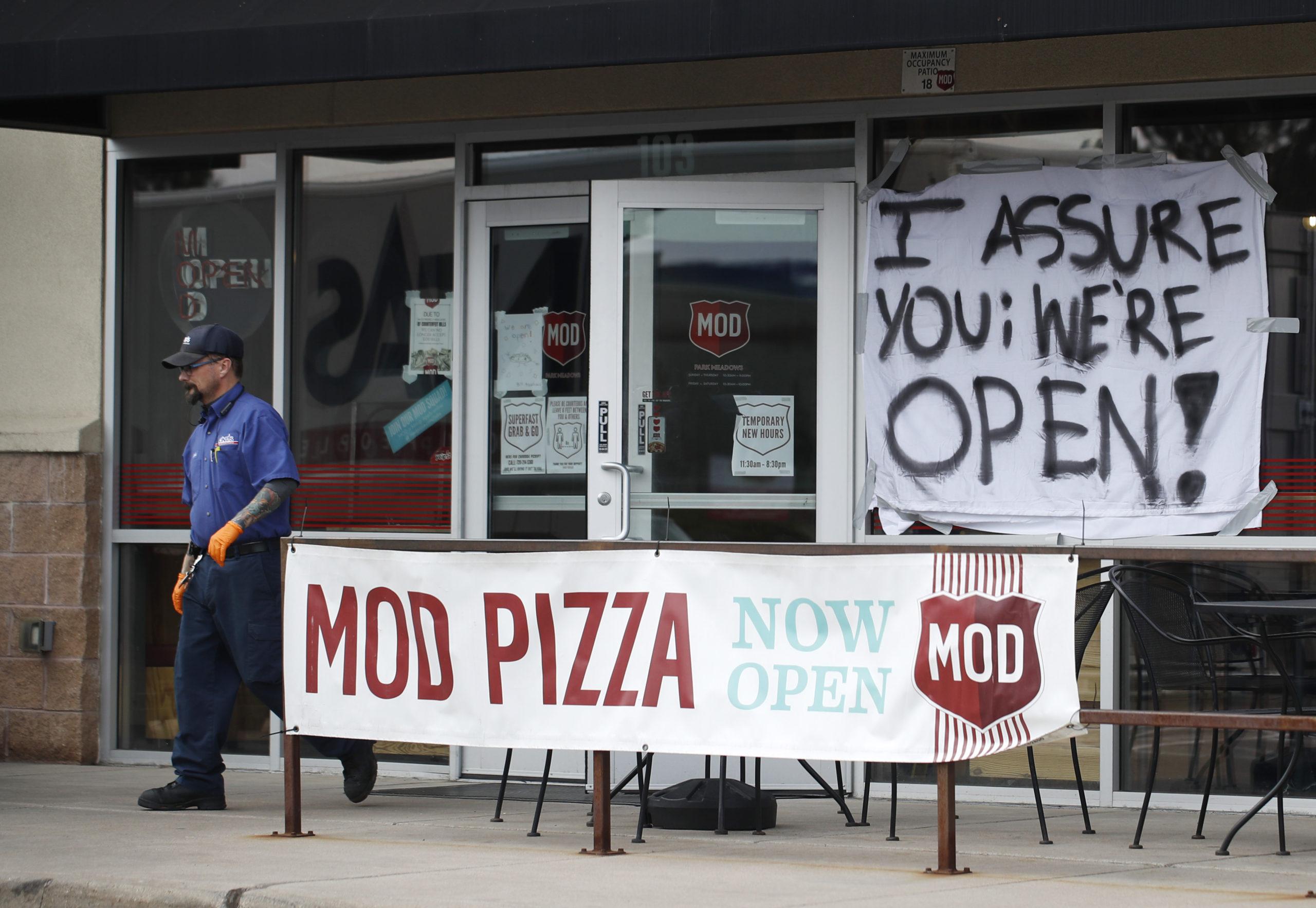 mod pizza still open, r m