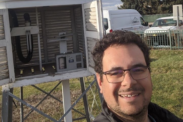 In Colorado's academic world, a class of essential workers are allowed to continue their work on university campuses under COVID-19. This includes Zach Schwalbe, who makes in-person observations at the Colorado Climate Center's weather station on the Colorado State University campus.