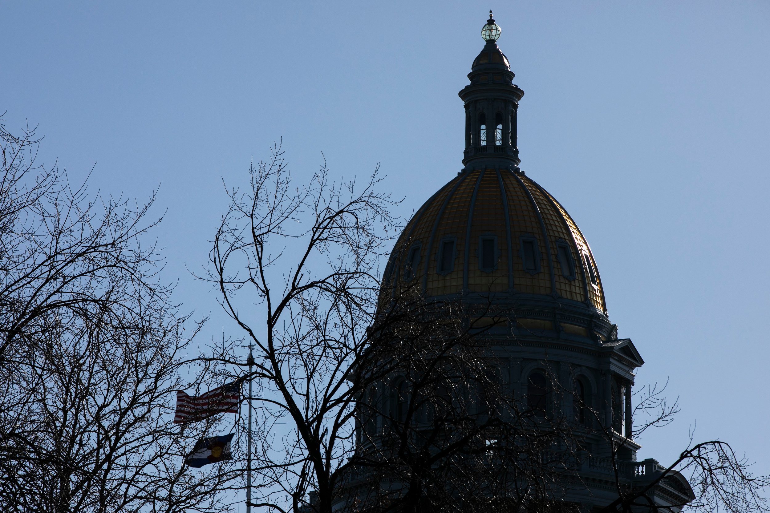 The Colorado state Capitol