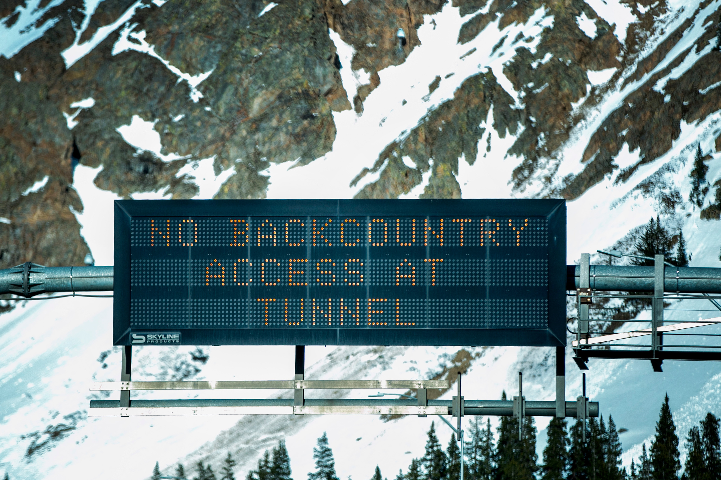 Interstate 70 Backcountry Warning Sign