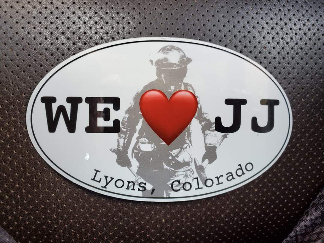 Defenders of Lyon's Fire Chief JJ Hoffman printed bumper stickers to show their support after he resigned in June.