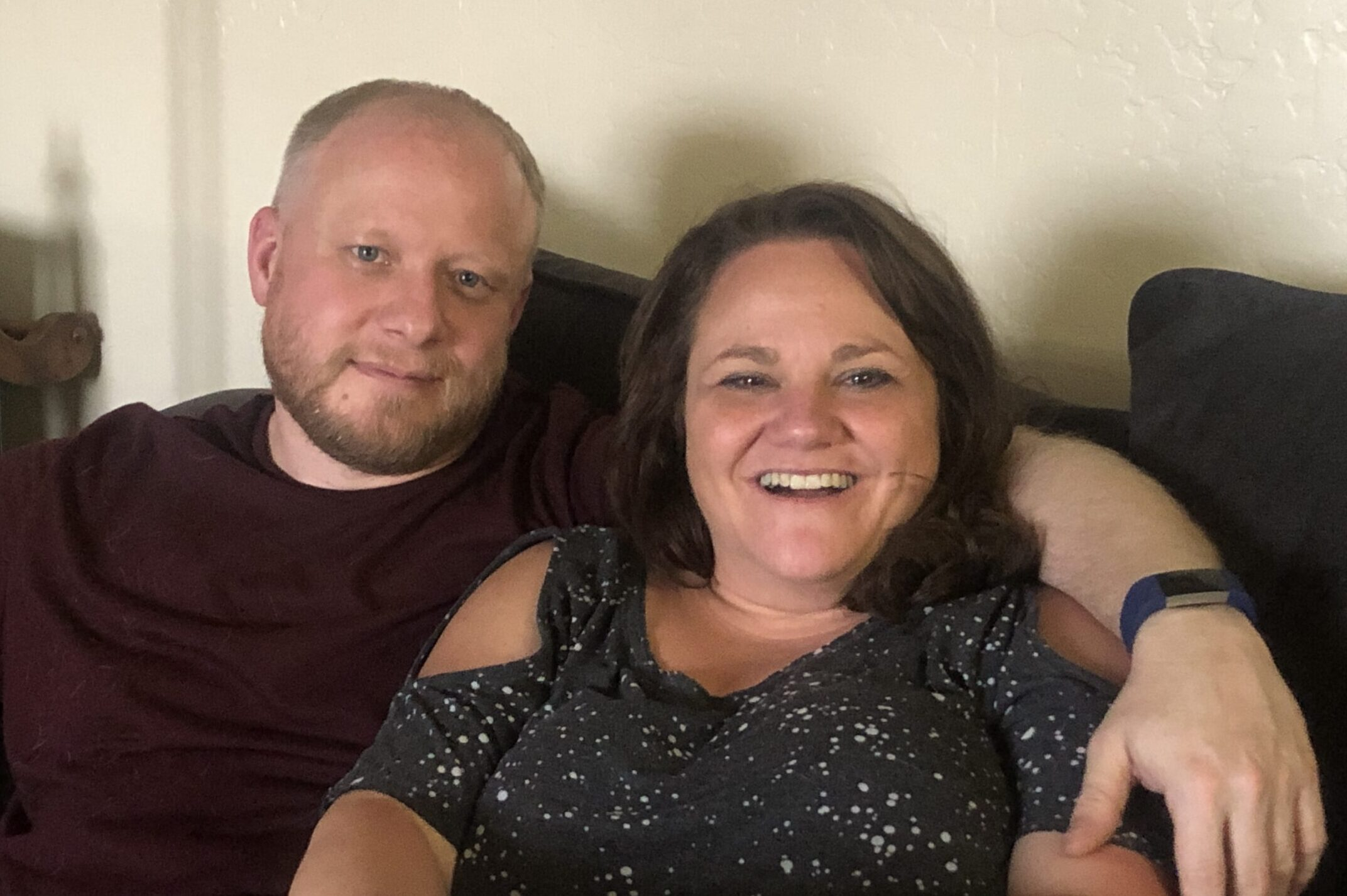 Matt and Hilary Glasgow at their home in Pueblo.