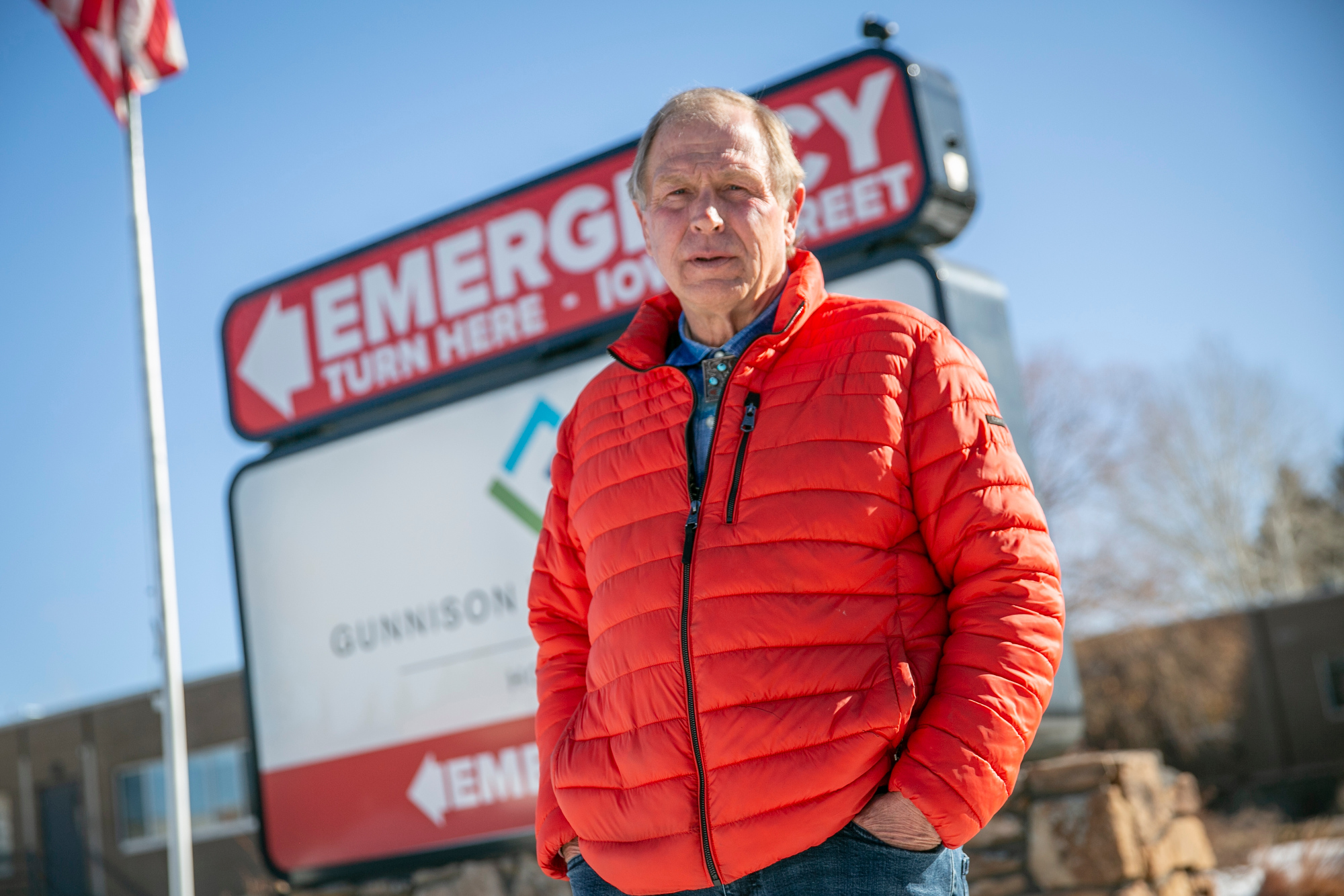 Joe Petersen now serves as a peer support specialist at Gunnison Valley Health, where he helps people who come into the ER because of a suicide attempt, drug overdose or other serious mental health concerns — issues he himself has survived. Photographed in Gunnison on Wednesday, Feb. 24, 2021.