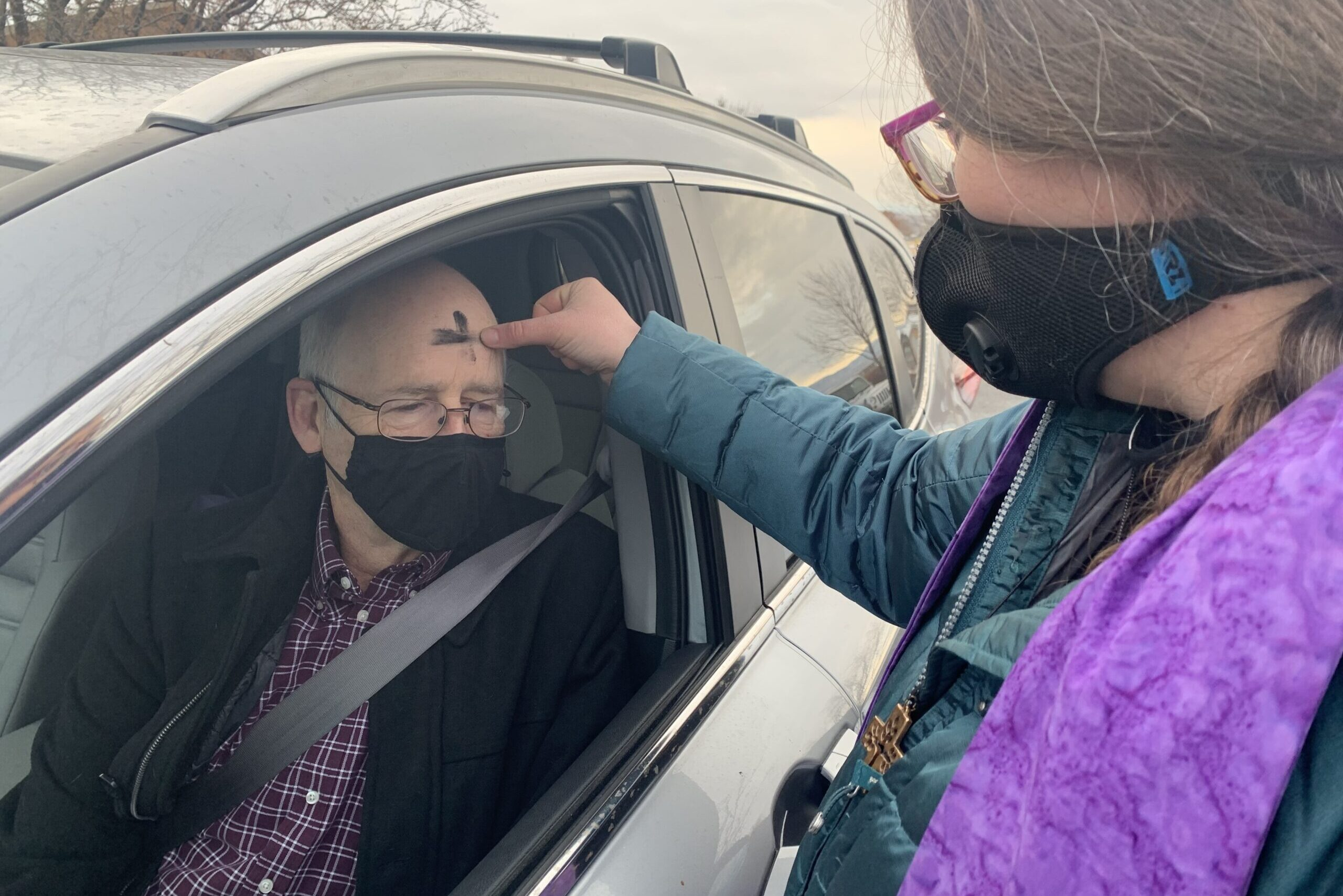 Ash Wednesday in Mesa County during the pandemic.
