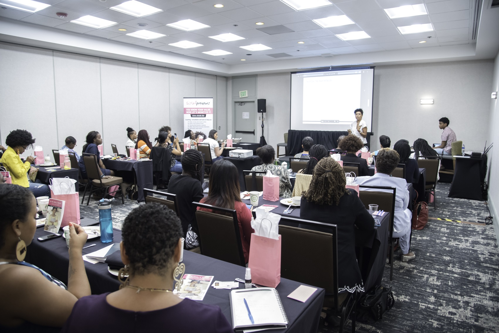 A coaching session for Black women entrepreneurs hosted by Sistahbiz Global Network