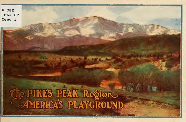 The cover of a 1910 catalog from the Colorado Springs Chamber of Commerce.