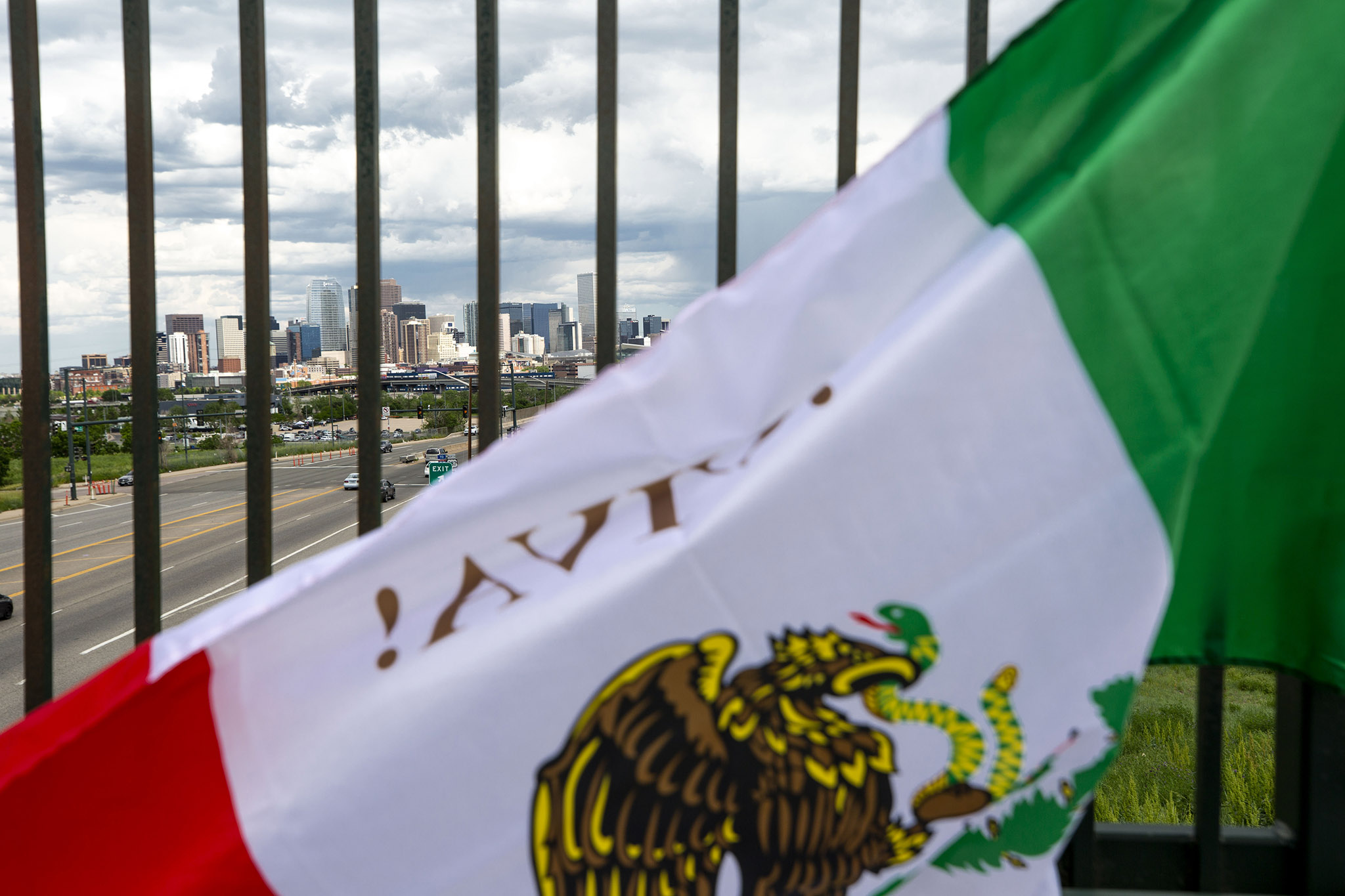 Raul Gomez sells Mexican flags before the U.S. and Mexico national teams face off in the CONCACAF Nations League finals at Mile High Stadium. June 6, 2021.