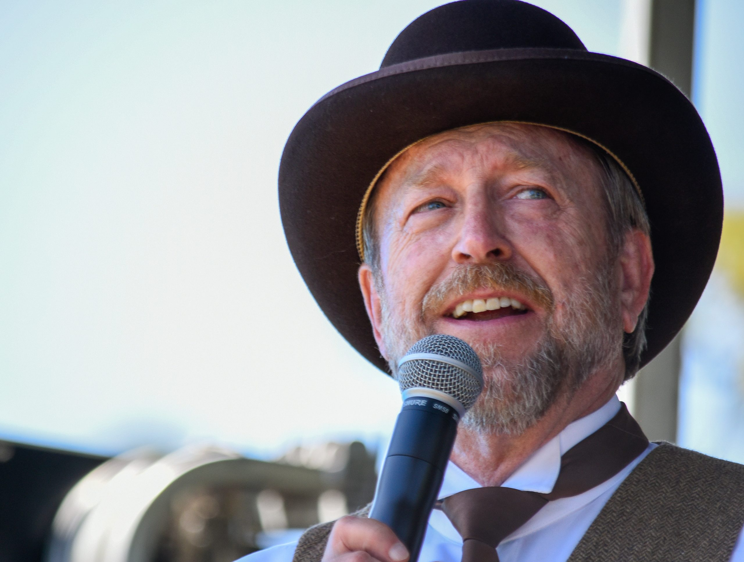 Colorado Springs Mayor John Suthers judged a beard contest at the Beards, Bonnets and Brews festival in Colorado Springs. He also grew a beard and wore period clothing for the sesquicentennial celebration. June 12, 2021