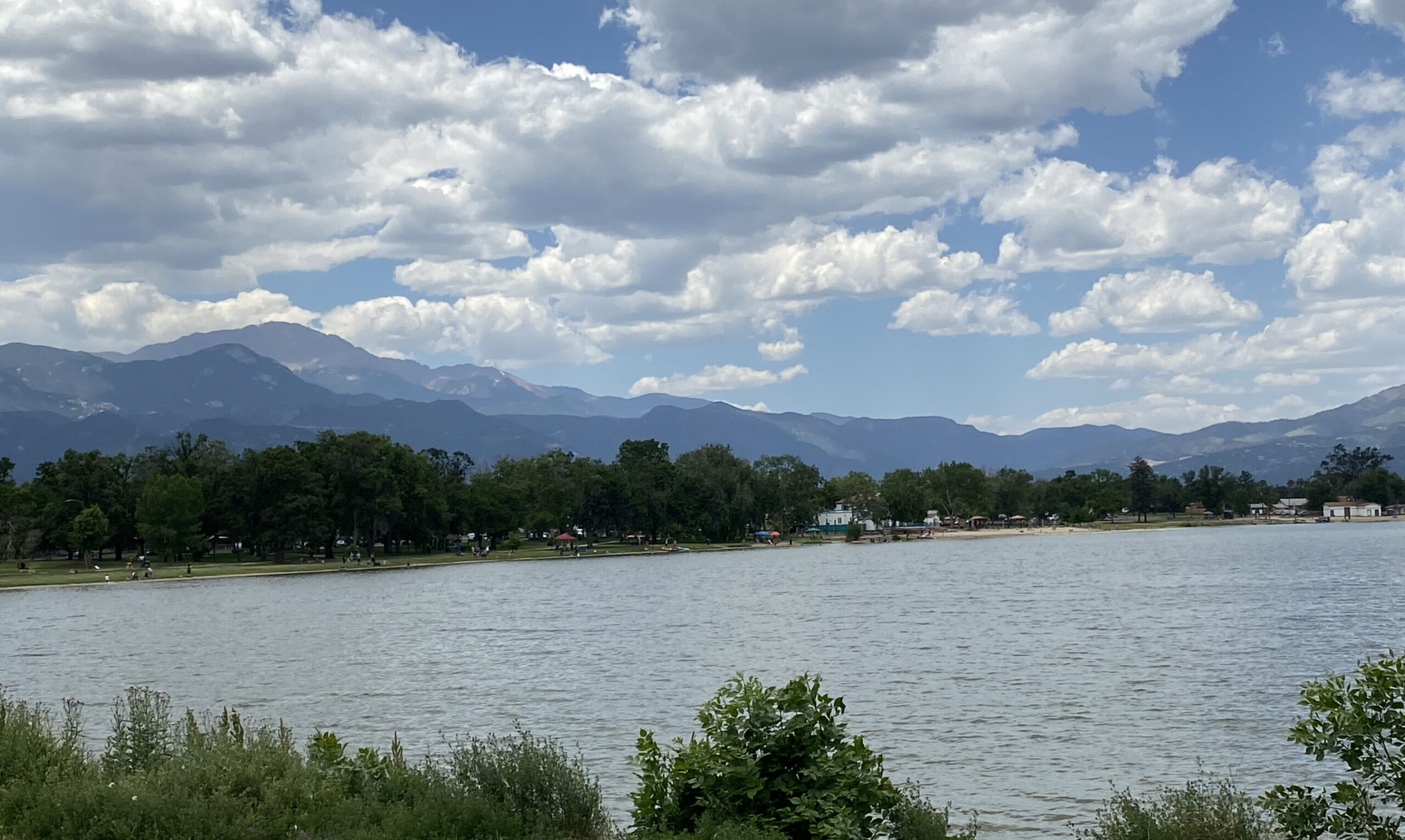 Prospect Lake in what is now Memorial Park in Colorado Springs was filled in 1890 for overflow from the El Paso Canal. July 2021.