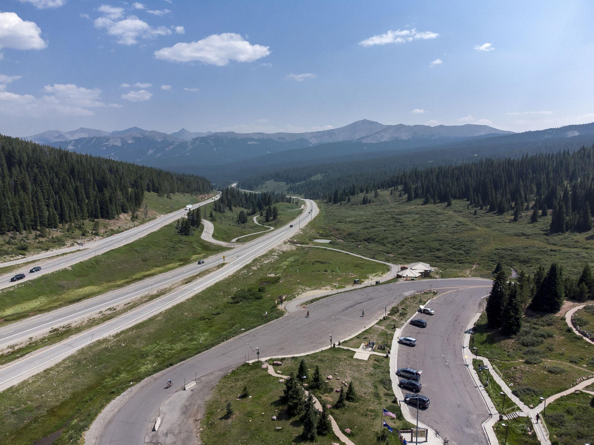 I-70 stretches through Vail Pass. Aug. 11, 2021.