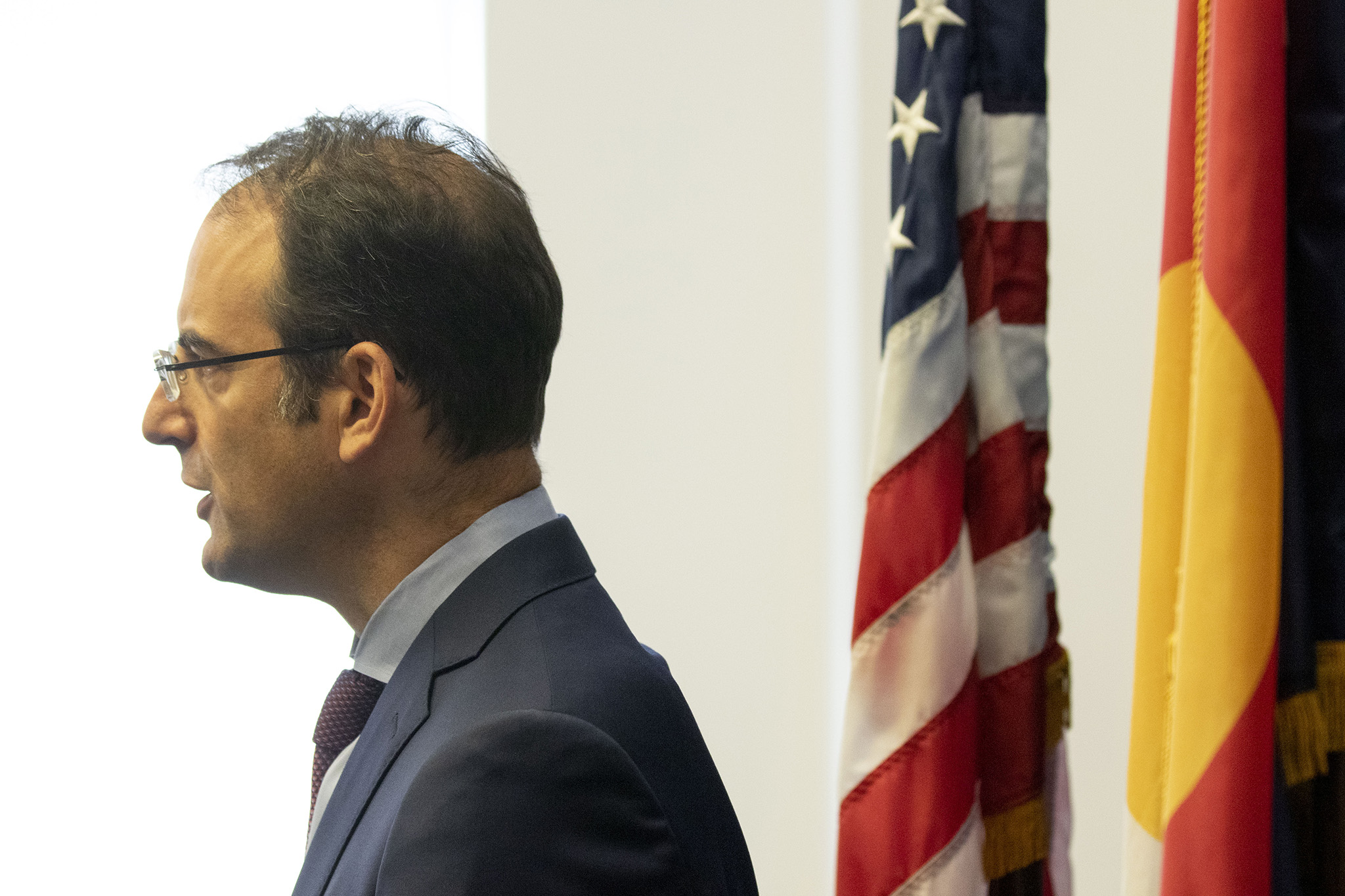 Attorney General Phil Weiser addresses press after a grand jury formerly indicted three police officers and two paramedics involved in Elijah McClain's death in 2019. Sept. 1, 2021.