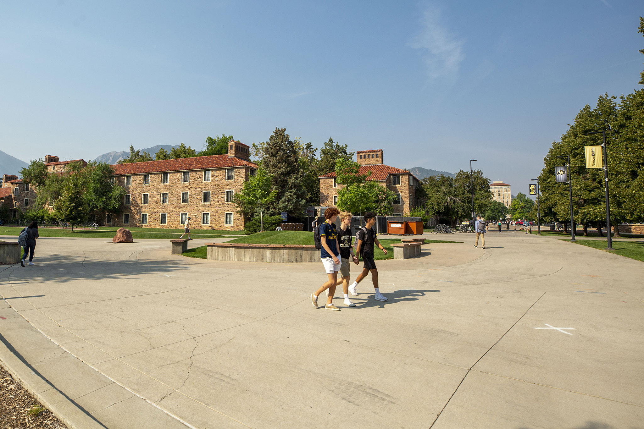 On campus at the University of Colorado Boulder. Sept. 8, 2021.