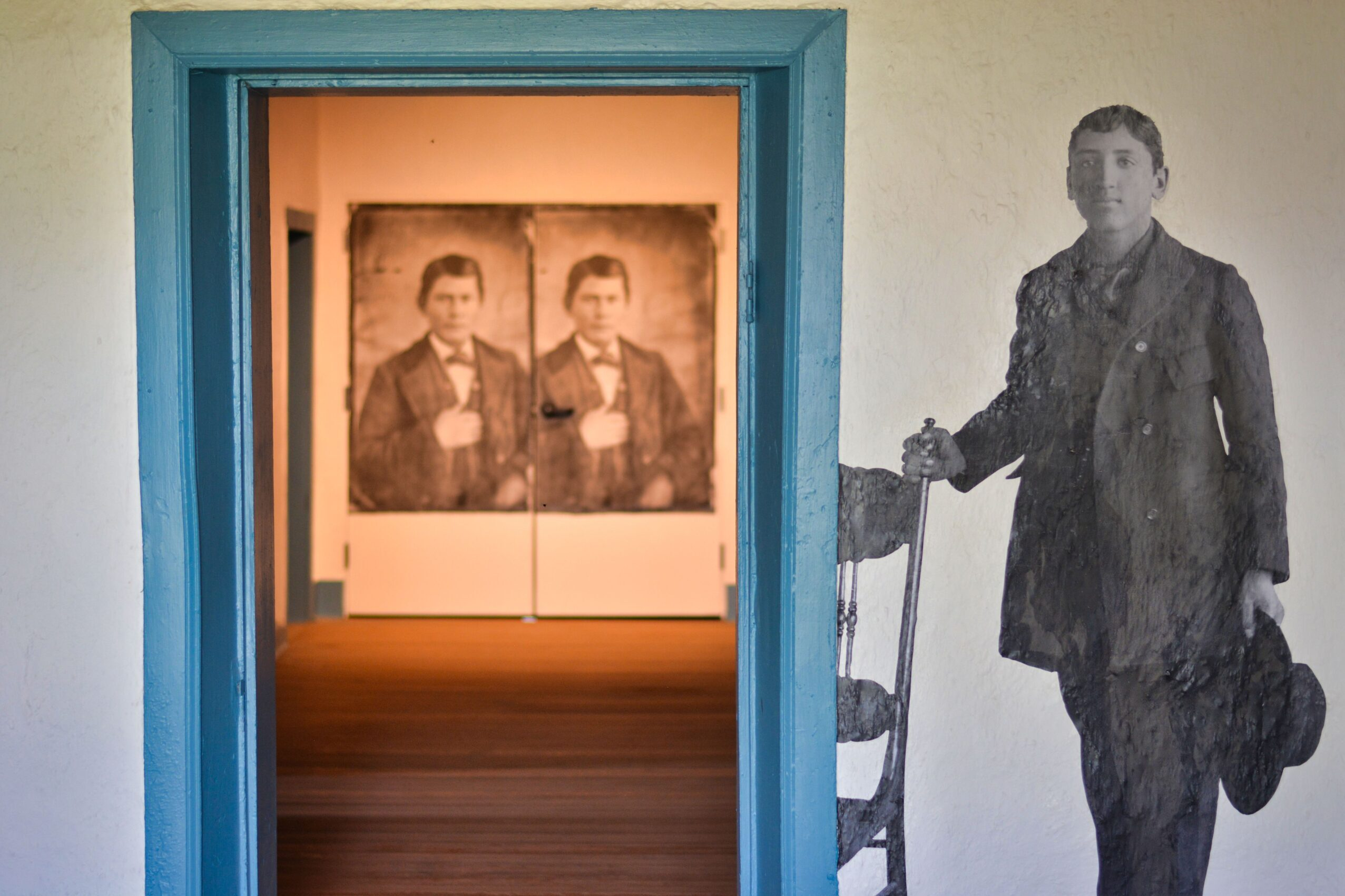 Juan Carson (center), an enslaved Navajo youth, and Gabriel Woodson (right), an enslaved Navajo person in the San Luis Valley, circa 1880. (Right image courtesy Saguache County Museum). From Unsilenced: Indigenous Enslavement in Southern Colorado at the Fort Garland Museum and Cultural Center.