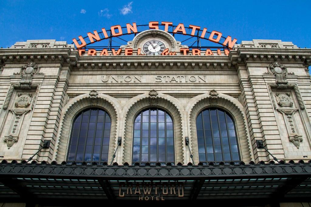 Denver's Union Station  denver; colorado; downtown; lodo; denverite; transportation; union station; landmark; train