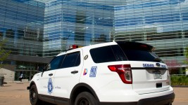 A Denver Police Department car. (Kevin J. Beaty/Denverite)  denver; colorado; denverite; police; cops; kevinjbeaty