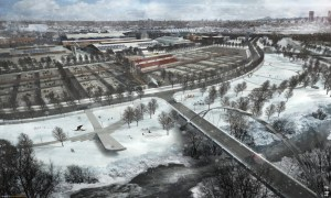 Rendering of stockyards and riverside area at National Western Center. (Courtesy of Smart Deal for Denver.)
