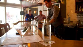 One cocktail and one on the way at the Beast and Bottle's bar. (Kevin J. Beaty/Denverite)