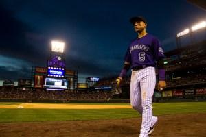 Carlos Gonzalez. Colorado Rockies vs San Diego Padres. June 10, 2016.  (Kevin J. Beaty/Denverite)  colorado rockies; baseball; sports; coors field; denver; colorado; denverite