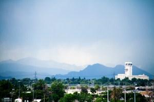 Rainclouds over the Rockies, looking westward from RiNo. (Kevin J. Beaty/Denverite)  weather; rain; clouds; front range; mountains; denver; denverite; kevinjbeaty; colorado
