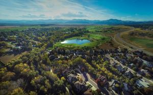 An aerial photo of Fox Hollow Golf Course in Lakewood. The photo was shot using a drone. Courtesy of Vic Moss Photography.