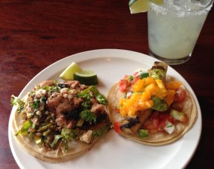 Tacos served at Tequila Tacos Whiskey. (Courtesy of Leigh Sullivan)
