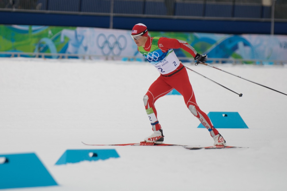 American nordic combined skier Todd Lodwick at the 2010 Winter Olympics. (Kevin Pedraja)
